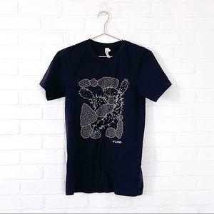 FLUME Graphic T-shirt Black Cactus Image